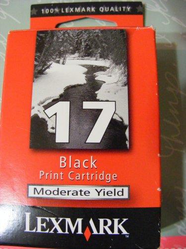 Lexmark Printer Cartridge 17 Black GENUINE Lexmark!