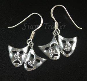 Sterling Silver Comedy/Tragedy Mask Earrings YSS12