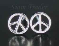 Sterling Silver Peace Stud Earrings AESS80LG