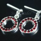 Sterling Silver Ring Of Siam Red Swarovski Crystals XSS300