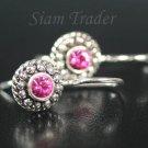 Sterling Silver Swarovski Rose Flower Earrings  FHSS10
