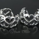 Sterling Silver Heart Ear Cuffs CSS86
