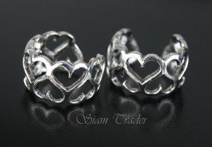 Sterling Silver Heart Ear Cuffs CSS86