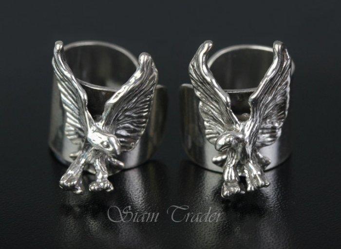 Sterling Silver Eagle Ear Cuffs AESS1283
