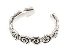 Sterling Silver Swirls Toe Ring TRSS113