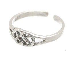 Sterling Silver Weave Toe Ring TRSS115