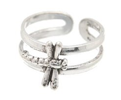 Sterling Silver Dragonfly Toe Ring TRSS116