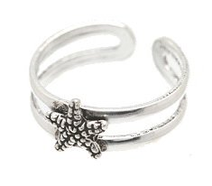 Sterling Silver Starfish Toe Ring TRSS117