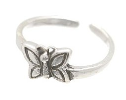 Sterling Silver - Butterfly - Toe Ring TRSS125
