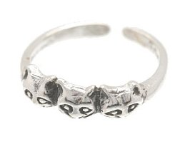 Sterling Silver - 3 Cats - Toe Ring TRSS126