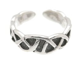 Sterling Silver - Rounded Weave - Toe Ring TRSS137