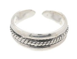 Sterling Silver - Rope - Toe Ring TRSS138