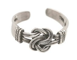 Sterling Silver - Square Knot - Toe Ring TRSS143