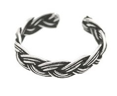 Sterling Silver - Braid Style 2 - Toe Ring TRSS145