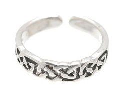 Sterling Silver - Loose Braid - Toe Ring TRSS159