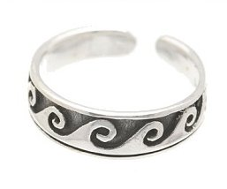 Sterling Silver - Waves - Toe Ring TRSS23