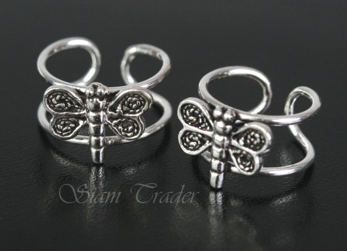 Sterling Silver Dragonfly Ear Cuffs CSS322
