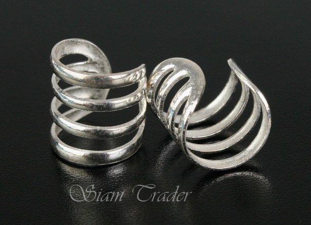 Sterling Silver - 4 Loop - Ear Cuffs CSS272