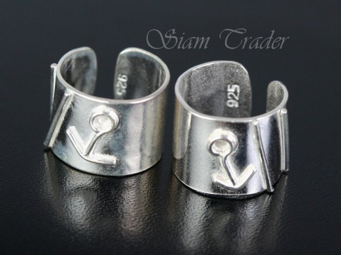 Sterling Silver - Anchor - Ear Cuffs AESS1271