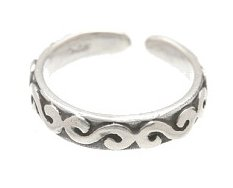 Sterling Silver - Linked 'S' - Toe Ring TRSS49
