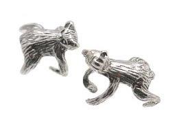 Sterling Silver Hugging Bear Ear Cuffs CSS359