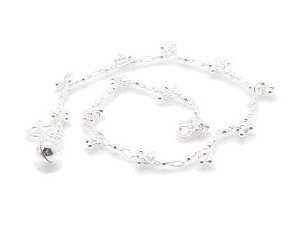 "Sterling Silver 9.5"" Anklet AKSS30"