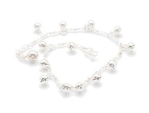 """Sterling Silver 9.5"""" Anklet AKSS31"""