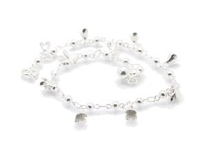 """Sterling Silver 9.5"""" Anklet AKSS32"""