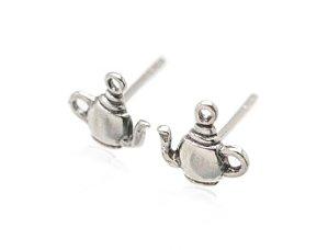 Sterling Silver Tea Pot Earrings AESS1660