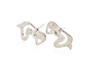 Sterling Silver Mermaid Earrings AESS1663