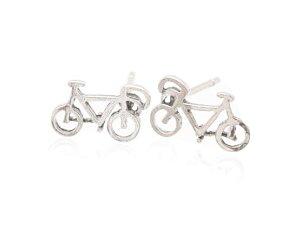 Sterling Silver Bicycle Earrings AESS1773