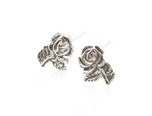 Sterling Silver Rose Earrings AESS1775