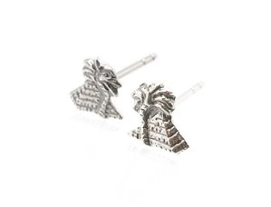 Sterling Silver Pyramid Earrings AESS1776