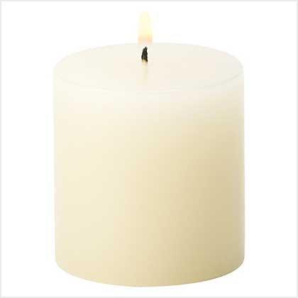 #39229 Ivory Vanilla Pillar Candle