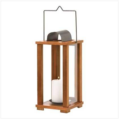 #39031 Classic Wood Candle Lantern