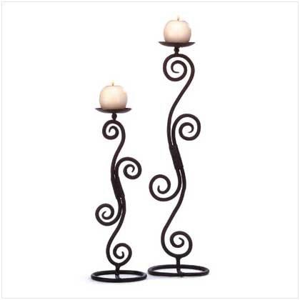 #32395 Scrollwork Tabletop Candlesticks
