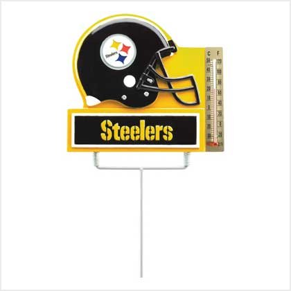 #38914 NFL Thermometer Garden Stake - Pittsburgh Steelers