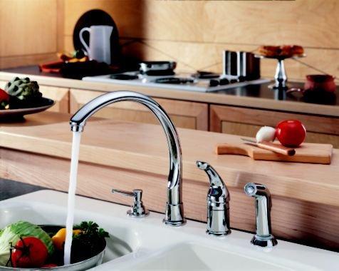 Waterfall Single Handle Kitchen Faucet