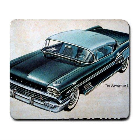 Mousepad Blue Pontiac classic car FREE SHIPPING