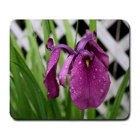 Mousepad purple Iris flower FREE SHIPPING