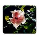 Mousepad pink hibiscus FREE SHIPPING