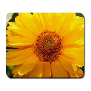 Mousepad Bright Yellow Flower like a daisy FREE SHIPPING