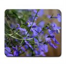 Mousepad FREE SHIPPING little blue flowers