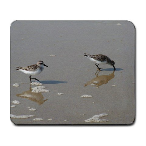 Mousepad FREE SHIPPING Sand piper Birds ocean sand