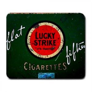 Mousepad FREE SHIPPING Vintage Cigarette Tin Lucky Strike Flat Fifties