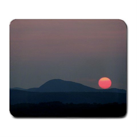 Mousepad FREE SHIPPING Pink sunset in the mountains
