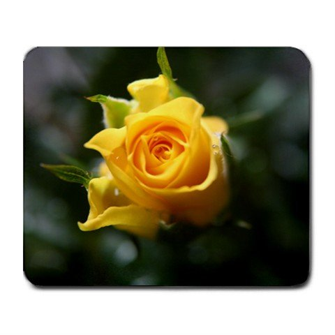 Mousepad FREE SHIPPING Yellow rose bud!!!!!  :)