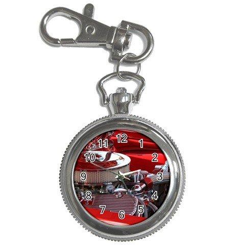 Pocket Watch Camaro Engine Red and Chrome