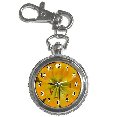 Pocket Watch Yellow Lily Flower