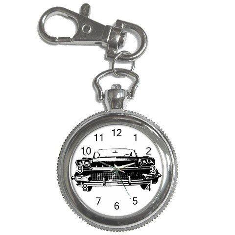 Pocket Watch Chevy Chevrolet Car B&W